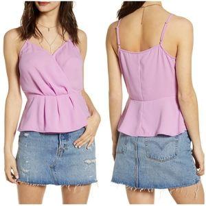 NWT LEITH | Wrap Peplum Camisole Top